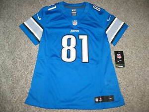 Calvin Johnson MEGATRON Detroit Lions Blue Womens Nike Limited Jersey