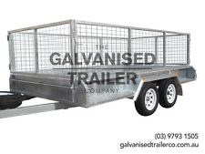 12x6 Tandem Trailer Galvanised Heavy Duty With 300mm Sides & 800mm Mesh Cage