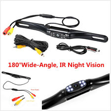 180° Car Rearview Backup Reversing Parking License Plate Camera LED Night Vision