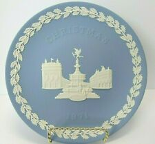 Wedgwood 1971 Christmas Plate- Pale Blue and White Jasper - Piccadilly Circus