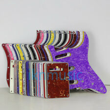 Set of Strat Guitar SSS 11 Holes Pick Guard & Back Plate Tremolo Cover 45 Colors