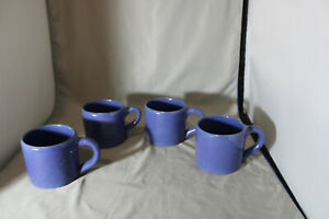 Lot of 4, Bybee, 10  ounce  Blue Mugs,