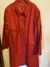 NWT Jessica Holbrook Easy Care Red Raincoat Size 3X