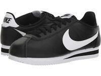 Women's Nike Classic Cortez Leather Black/White (807471 010) authentic size 8