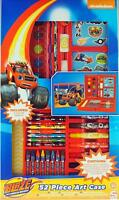 Blaze Monster Machine 52 Piece  Art And Colouring Box Carry Case Gift Set