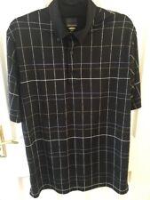 Greg Norman Golf Camisa Cuadros Negro M