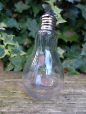 Bulb Shaped Glass Bottle with Metal Top Collector Shop Home Art Decoration