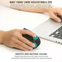 2.4G USB Vertical Ergonomic Optical Mouse Wrist Healing For Computer PC Laptop G