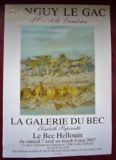 """TANGUY LE GAC  Affiche Expo 2007 LE BEC HELLOUIN  """" d'Ors et Lumières """""""