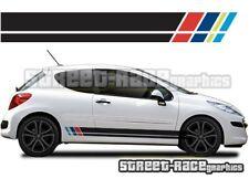 Peugeot 207 001 side racing stripes graphics stickers decals vinyl Rally Rallye