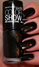 NUEVO Maybelline Color muestra Uña polaco en Crepúsculo Rays #240 NEGRO + oro