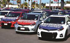 Car Dealer Flag Hoodies, Medium Hoodie Flag, Set of 3, FREE SHIPPING
