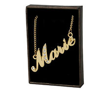 "Name Necklace ""Marie"" - 18ct Gold Plated - Birthday Present - Custom Made Gift"