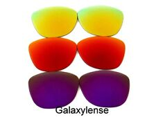 Galaxy Replacement Lenses For Oakley Frogskins Purple&Red&Gold Polarized 3PAIR