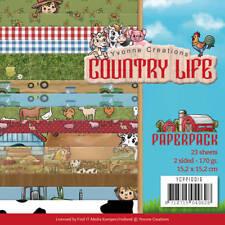 Paper Pad Country Life Horizons 23 feuilles 15 cm x 15 cm pour cartes/artisanat