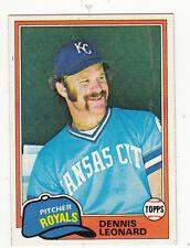 1981 TOPPS BASEBALL #185 DENNIS LEONARD KC ROYALS - NM/MT