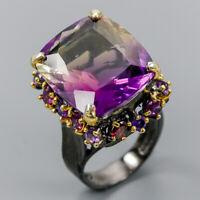 Handmade Jewelry  Ametrine 925 Sterling Silver Ring Size 8/R117947