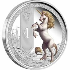 2013 $1 Mythical Creatures Unicorn 1oz Silver Proof Coin
