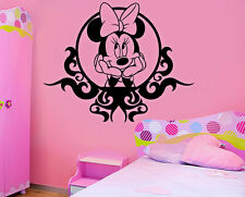 Minnie Mouse miroir enfants disney wall stickers art chambre amovible Stickers DIY