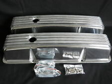 CHEVROLET SML BLOCK VALVE COVERS RETRO CAST FINNED TALL ALUMINIUM