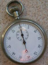 Vintage Stop Watch nickel chromiun case enamel dial 49,5 mm. in diameter