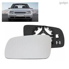 Left Wing Door Mirror Glass For VW Jetta Golf MK4 1999-2004 Clip-on Type