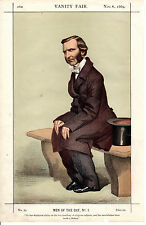 VANITY FAIR CARTOONS - FREDERICK TEMPLE, THE FUTURE ARCHBISHOP  - TISSOT (1869)