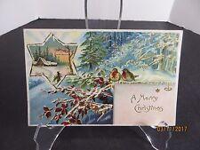 Vintage A Merry Christmas Postcard