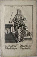 Eau forte XVIIIe siècle, Engelbrecht (?), École allemande, Allégorie de Justice