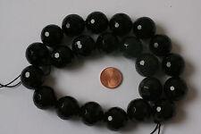 Noir Agate-strang (Boule 18 MM, FAC) k-0151/k