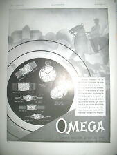 PUBLICITE DE PRESSE OMEGA MONTRE HEURE EXACTE CHASSE A COURRE FRENCH AD 1930