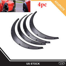 """3.5""""/90mm 4X Universal Flexible Car Fender Flares Extra Wide Body Wheel Arches #"""
