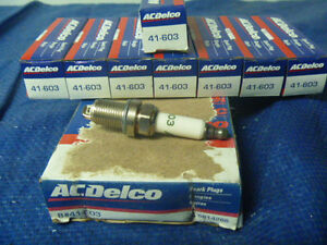 New 81-94 Audi BMW Buick Chevrolet Dodge ACDelco 41-603 Spark Plugs Set Box of 8