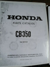 HONDA CB350 PARTS CATALOG MANUAL 2nd EDITION NOVEMBER 1970
