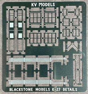 ETCHED DETAIL SET FOR BLACKSTONE MODELS K-27 2-8-2 MUDHEN BY KV MODELS KV-5001H