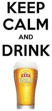 STICKER Keep Calm and Drink XXXX BUMPER STICKER FREE POST Gold QLD Aussie Beer