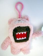 "LIMITED EDITION CLIP ON DOMO KUN PINK PLUSH 5"" TOY DOLL TEDDY BEAR COSTUME NEW"