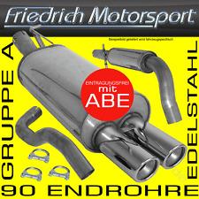 FRIEDRICH MOTORSPORT V2A AUSPUFFANLAGE Audi 80 90 + Cabrio 89 1.8l 1.9l D 2.0l 2