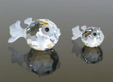 Swarovski  Blowfish  large ,  Blowfish small  , Blowfish mini  set of  3