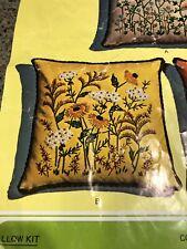 Vintage Creative Stitchery Goldenrod Crewel Pillow Kit - 273B - Nos
