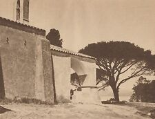 G1495 France - Saint-Tropez - La chapelle Sainte-Anne - Stampa - 1937 old print