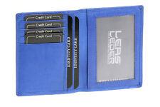 Ausweis- und Kreditkartenhülle LEAS in Echt-Leder, hellblau