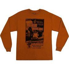 MENS Fender T-Shirt Hot Rod Hoodlums Long-Sleeved, Orange, XL