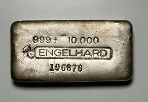 RARE Engelhard 10oz 3rd Series Canadian Variation Fine Silver Bar  Item#P13933