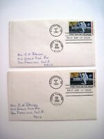 """(2) """"First Day Issue"""" Stamps Commemorating """"First Man On The Moon"""" *"""