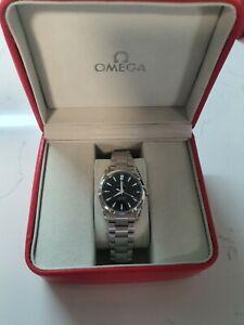 OMEGA Seamaster Aqua Terra Black Dial Stainless Quartz 2518.50 Wristwatch w/Box
