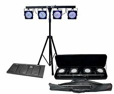 CHAUVET 4 BAR 4BAR DMX LED Stage Wash Light System w/ Case, Foot Switch & Tripod