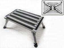 More details for caravan folding step aluminium 150kg (non slip lightweight motorhome)