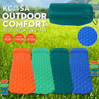 Self Inflatable Camping Air Mattress Blow Up Bed Sleeping Mat Pad with Pillow