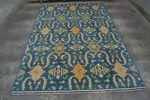 "y1345 Elegant Handmade Turkish Oushak Rug, 100% Traditional rug, 6'6 x 9'6"" ft."